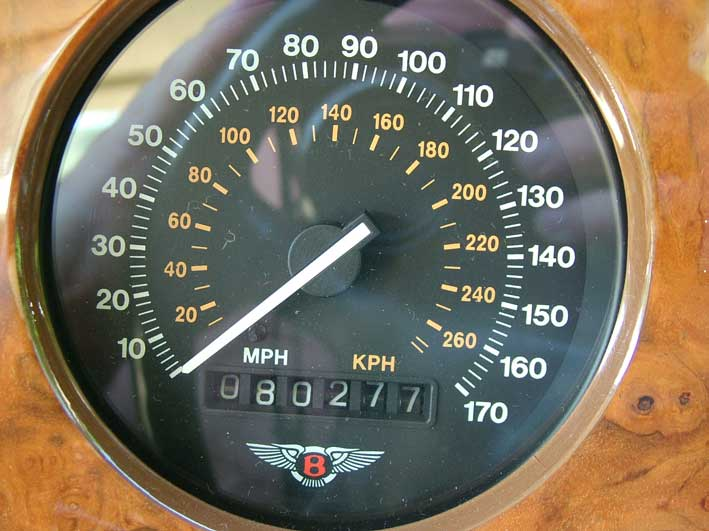 Brooklands Bentley for sale speedo